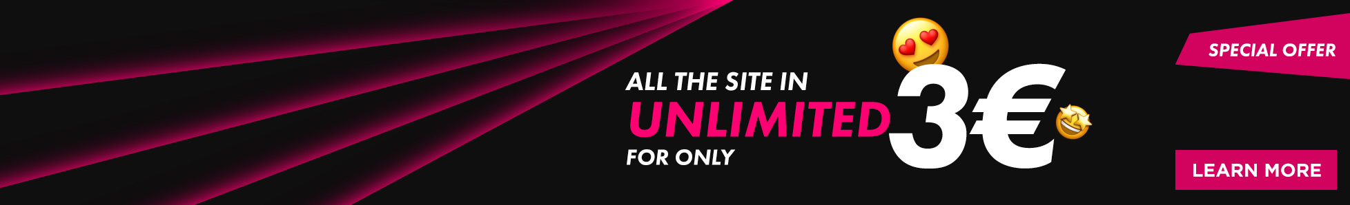 All porn stars of Jacquie and Michel in unlimited for 24h for only € 3